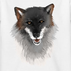 Wolf - illustriert T-Shirts - Kinder T-Shirt