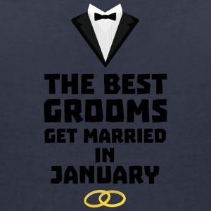 The best groom in January S0vg9 T-Shirts - Women's V-Neck T-Shirt