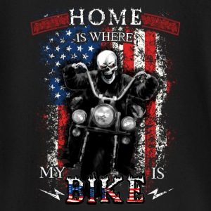 American Biker Skull - HOME is where my BIKE is Baby Langarmshirts - Baby Langarmshirt