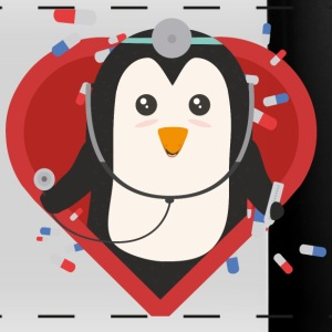 Medico di pinguino con cuore Sal28-design Tazze & Accessori - Tazza colorata con vista