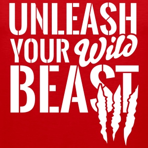 Unleash your wild Beast Sportkleding - Mannen Premium tank top