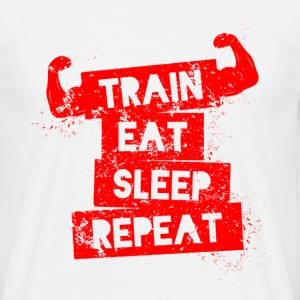 Training Eat Sleep Repeat - Männer T-Shirt