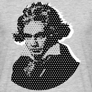Beethoven in Dots - Black T-Shirts - Männer T-Shirt