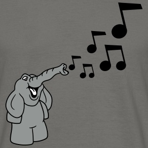 musik noter melodi party noisemakers dansende elef T-shirts - Herre-T-shirt