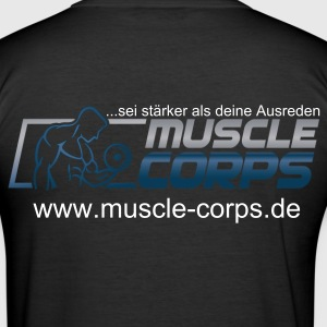 T-Shirt Slim Fit Muscle Corps Logo - Männer Slim Fit T-Shirt