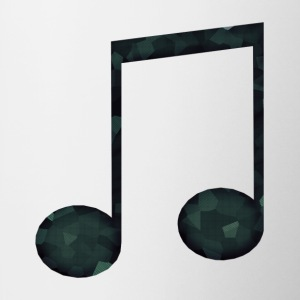 Low Poly Geometric Music Note - Tasse