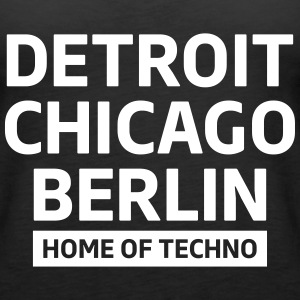 Detroit Chicago Berlin home of techno minimal Club Topy - Tank top damski Premium