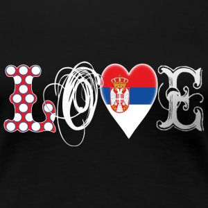 Love Serbia White T-Shirts - Frauen Premium T-Shirt
