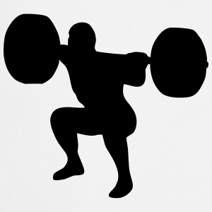 weightlifting, weightlifter, weight lifter Kookschorten - Keukenschort
