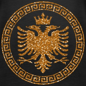albanian_crown_m_gold Tops - Frauen Premium Tank Top