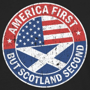 AMERICA FIRST, BUT SCOTLAND SECOND Long sleeve shirts - Men's Premium Longsleeve Shirt