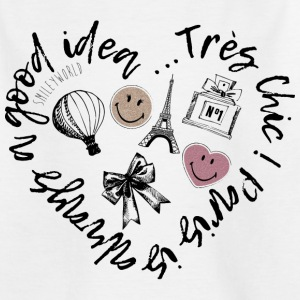 SmileyWorld Paris Is Always A Good Idea - Kinder T-Shirt