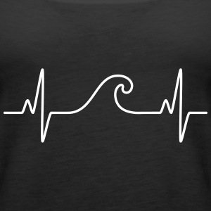 Surf  The Wave | Funny Heartbeat Design Top - Canotta premium da donna