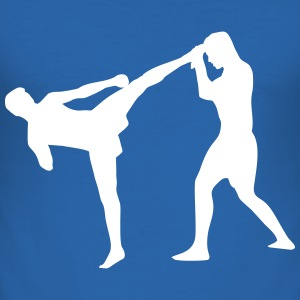 Kickboxing, Martial Arts T-shirts - Slim Fit T-shirt herr