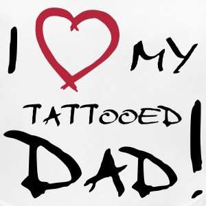 I love my tattooed Dad - Lätzchen - Baby Bio-Lätzchen