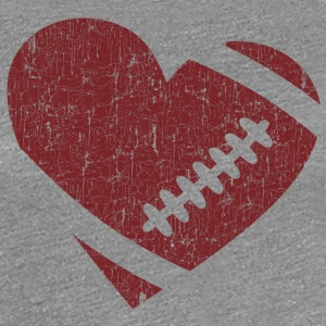 VINTAGE FOOTBALL HEART T-Shirts - Women's Premium T-Shirt