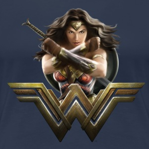 Warner Bros Wonder Woman Pose Et Logo - T-shirt Premium Femme