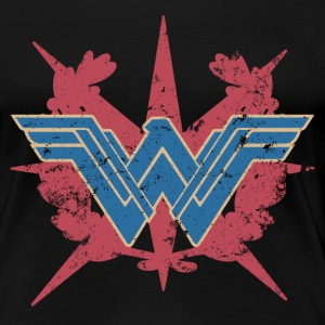 Bros Wonder Woman Distressed Logo - Naisten premium t-paita