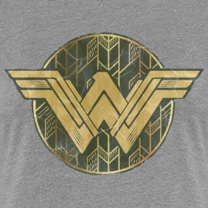 Bros Wonder Woman Faded Vintage Logo - Naisten premium t-paita