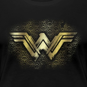 Warner Bros Wonder Woman Logo Doré - T-shirt Premium Femme