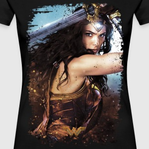 Bros Wonder Woman Vintage Portrait - Premium-T-shirt dam