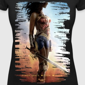 Bros Wonder Woman Power Grace Wisdom - T-shirt med v-ringning dam