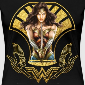 Bros Wonder Woman With Sword Gold Logo - Premium-T-shirt dam