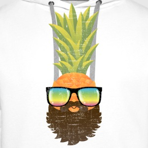 Pineapple Hipster With Beard And Sunglasses Hoodies & Sweatshirts - Men's Premium Hoodie