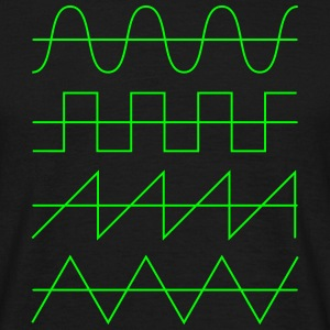 Wellenformen Audio Waveform Oscillator Synthesizer T-Shirts - Männer T-Shirt