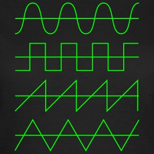 Wellenformen Audio Waveform Oscillator Synthesizer T-Shirts - Frauen T-Shirt