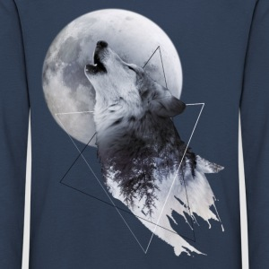 Howl with the Wolf Kinder Premium Langarmshirt - Kinder Premium Langarmshirt