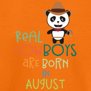 Real Cowboys are born in August Szqgg Shirts - Kids' Premium T-Shirt
