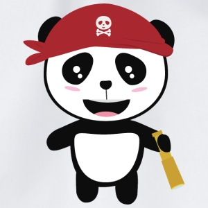 Panda Pirate with spyglass Si5wy Bags & Backpacks - Drawstring Bag