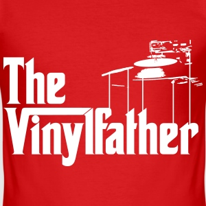 The Vinylfather Djing T-Shirts - Männer Slim Fit T-Shirt