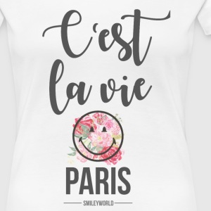 SmileyWorld Paris C'Est La Vie - Frauen Premium T-Shirt