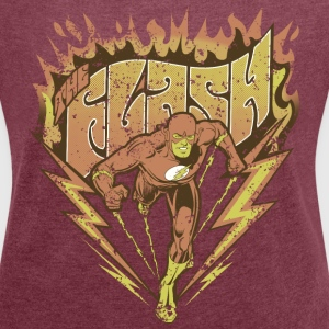 DC Comics Originals The Flash Look Usé - T-shirt Femme à manches retroussées
