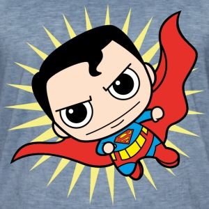 DC Comics Originals Superman Clark Kent Chibi - Männer Vintage T-Shirt