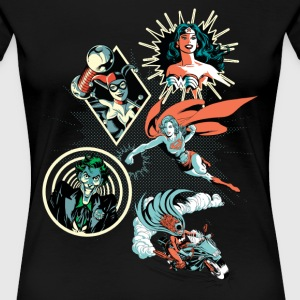 DC Comics Originals Harley Wonder Woman Joker - Frauen Premium T-Shirt