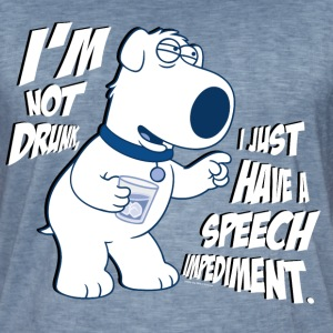 Family Guy Brian I'm Not Drunk - Vintage-T-shirt herr
