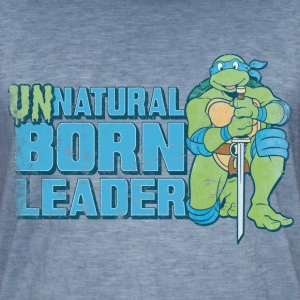 Tortues Ninja Leonardo Unnatural Born Leader - T-shirt vintage Homme