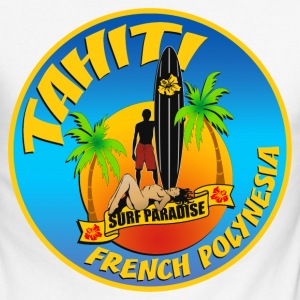 Tahiti Surfing team 02 Manches longues - T-shirt baseball manches longues Homme