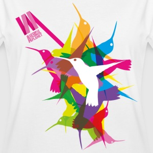 Animal Planet Bunte Vögel Kolibris - Frauen Oversize T-Shirt