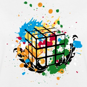 Rubik's Cube Colourful Splatters - Oversize T-skjorte for kvinner