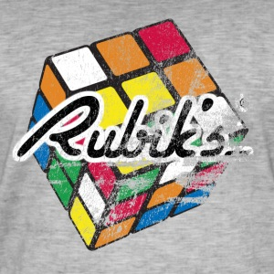 Rubik's Cube Colourful Retro Magic Cube - Vintage-T-skjorte for menn