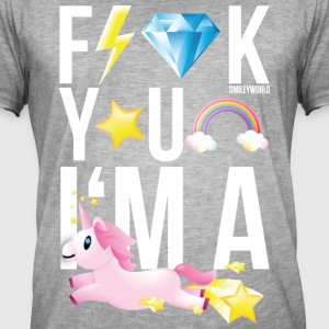 SmileyWorld F**K YOU I'M A UNICORN - T-shirt vintage Homme