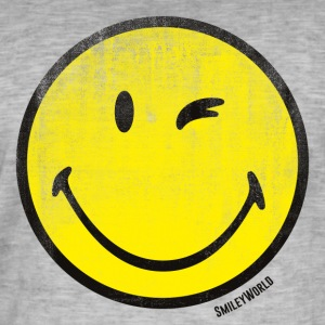 SmileyWorld Zwinkernder Smiley Used Look - Männer Vintage T-Shirt