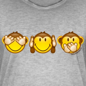 SmileyWorld Singes De La Sagesse - T-shirt vintage Homme