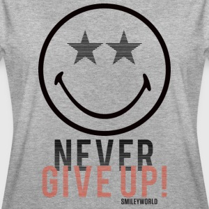 SmileyWorld Never Give Up - Women's Oversize T-Shirt