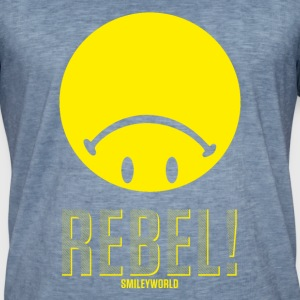 SmileyWorld Upside Down Rebellious - Herre vintage T-shirt