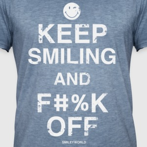 SmileyWorld Keep Smiling And F**k Off - T-shirt vintage Homme